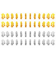 effect 3d animation golden and silver metal vector image