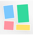 empty colorful scrapbook papers set vector image vector image