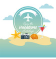 enjoy vacations travel isolated icon vector image vector image