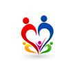 family concept logo vector image vector image