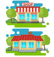 flat home and shop vector image vector image
