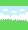green grass and blue sky cartoon landscape vector image vector image