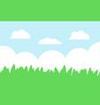 green grass and blue sky cartoon landscape vector image