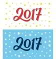 Happy New Year 2017 hand lettering numbers on card vector image vector image