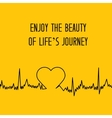 Heart shape ECG line vector image