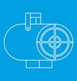 heat gun icon outline style vector image vector image