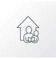 home schooling icon line symbol premium quality vector image