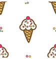 icecream pattern 2 vector image vector image