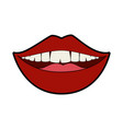 isolated mouth smiling vector image