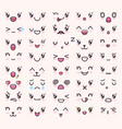 kawaii emotions collection vector image