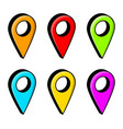 location pin for map design isolated on white vector image vector image