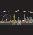 london colorful line art 7 vector image vector image