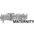 maternity wear text background word cloud concept vector image vector image