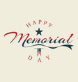 memorial day letter background or banner design vector image vector image