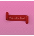 Mothers Day red scroll Banner vector image