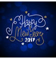 new year hand drawn lettering on dark blue vector image vector image