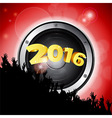 New Years party 2016 with speaker and crowd vector image vector image