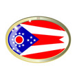 ohio state flag oval button vector image vector image