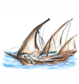 pirate old ship vector image