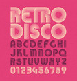 retro style alphabet and numbers vector image vector image