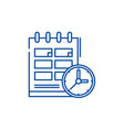 schedule line icon concept schedule flat vector image vector image