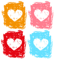 Set of hearts for valentine vector image vector image
