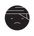 sick emoji black concept icon sick emoji vector image vector image