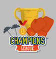 sports champions league icons vector image vector image