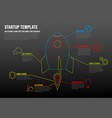 thin line startup infographic template vector image vector image
