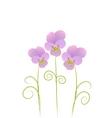 three violet vector image vector image