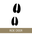 trace of a roe deer animal vector image vector image