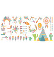 tribal elements set design element vector image