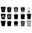 waste bins - set vector image