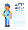 water delivery banner cartoon vector image vector image