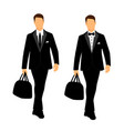 wedding mens suit and tuxedo collection vector image