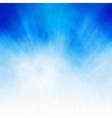 White burst on blue vector image vector image