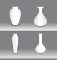 white vase set object vector image