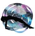 women silhouette upward plank pose vector image vector image