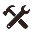 Wrench and hammer Tools icon vector image vector image