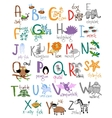 Zoo alphabet vector image