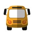 school bus student transport shadow vector image