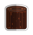 wooden logs resource icon vector image