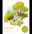 Cute animal family background with Cows 2 vector image
