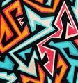 graffiti seamless pattern with grunge effect vector image