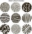 Zigzag Paint Brush Set vector image