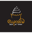 background with cupcake vector image