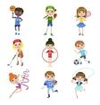 Kids Doing Sports Set vector image