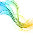 Abstract color wavy background vector image vector image