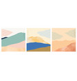 abstract landscape art background with watercolor vector image vector image