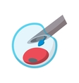 Artificial insemination cartoon icon vector image vector image